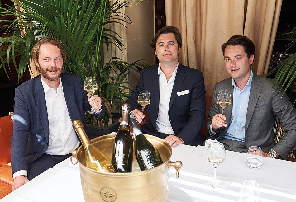 Guillaume, Rodolphe et Richard Frèrejean Taittinger