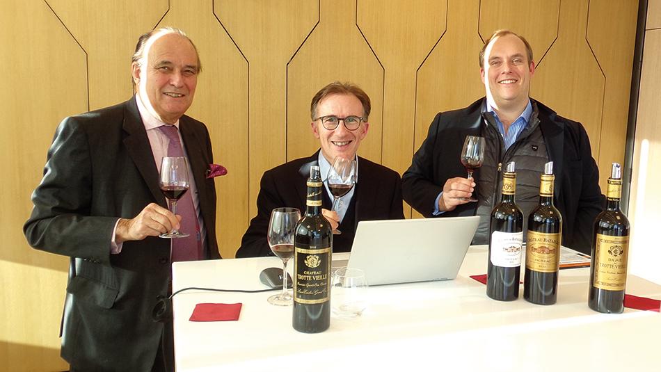 Philippe Casteja, Paolo Basso et Frederic Casteja
