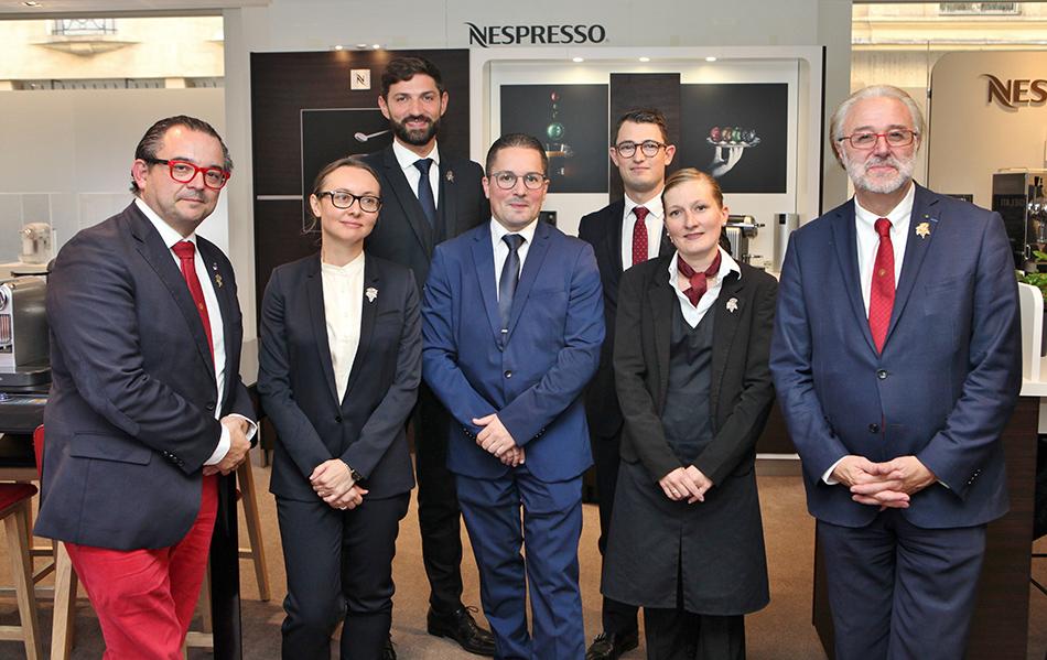 De gauche à droite Fabrice Sommier, Pascaline Lepeltier, Pierre Vila-Palleja, Florian Balzeau, Aymeric Pollenne, Isabelle Mabboux et Philippe Faure-Brac.