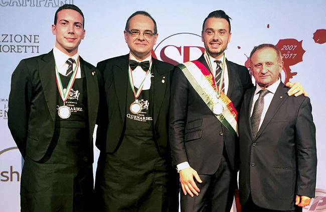 Gabriele Del Carlo - Remise de médaille du Meilleur Sommelier d'Italie ASPI.