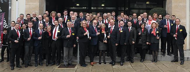 Les délégués de l'UDSF étaient réunis à Poligny dans un lycée professionnel hôtelier qui a longtemps formé de jeunes sommeliers.